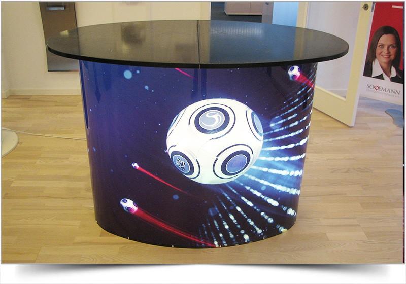 Grote verlichte tafel