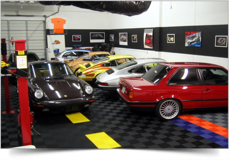kunststof vloertegels voor garage