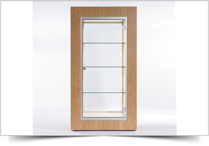 luxe houten vitrinekast huren