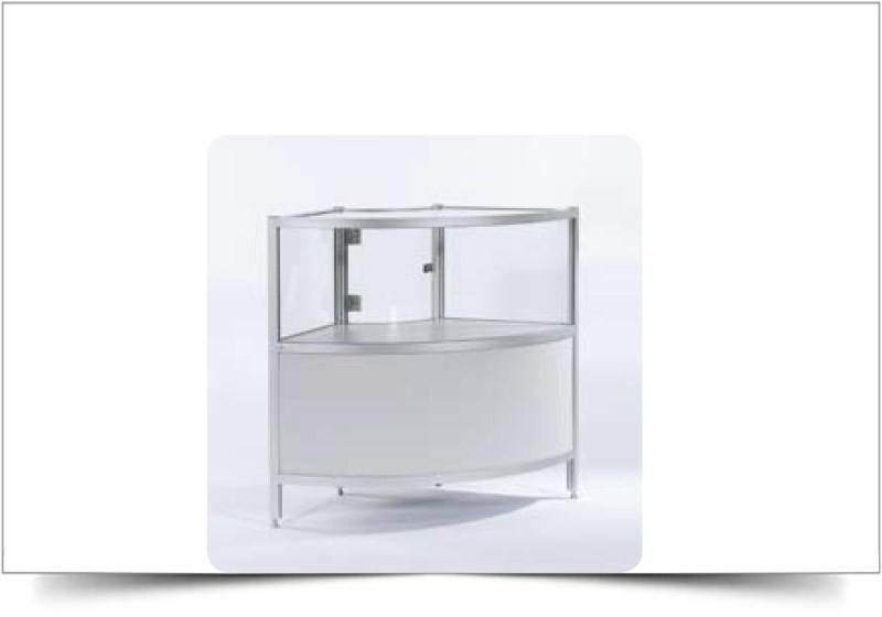 huren lage vitrinekasten grijs
