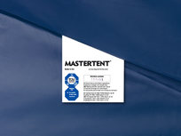 Mastertent-vouwtent -label