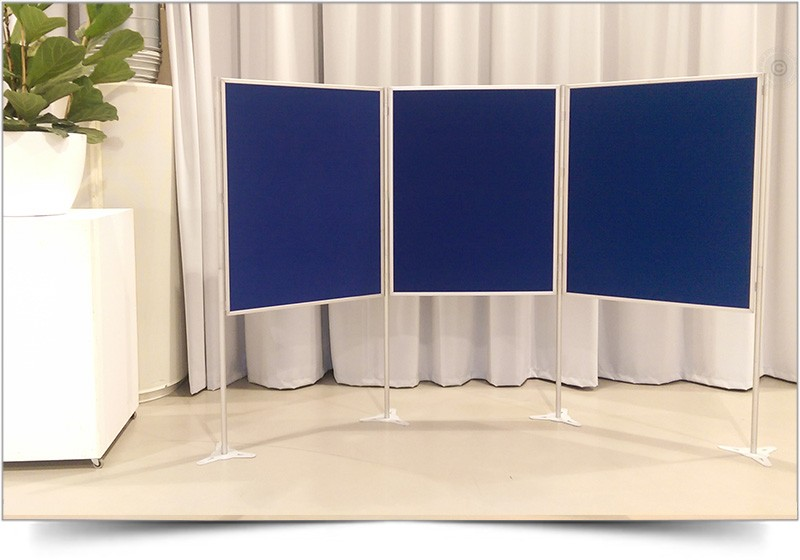 blauwe posterpanelen huren