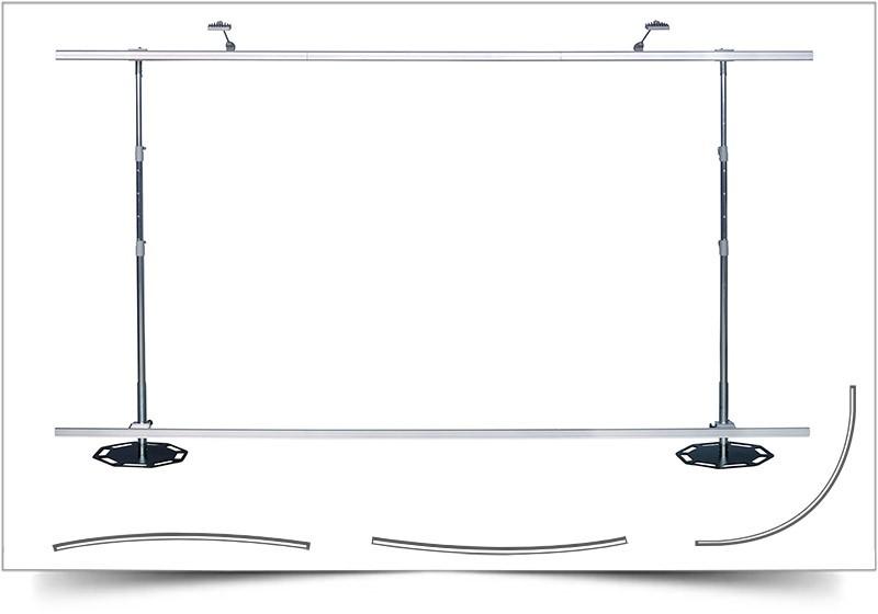 beurswand frame met bedrukt doek premium