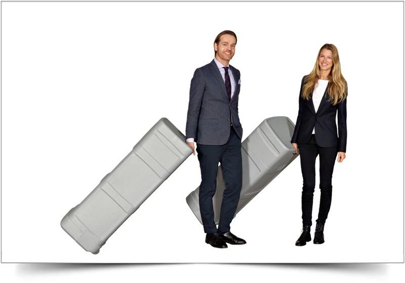 grote hoge koffer voor beurswand premium