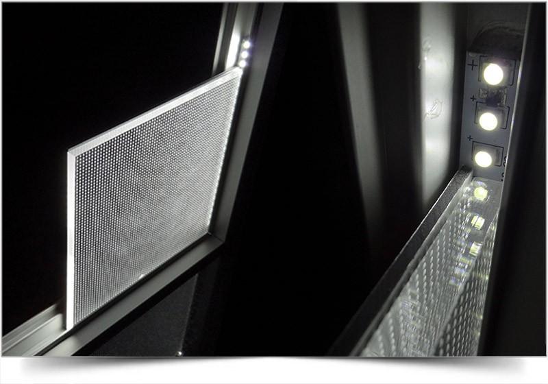 verlicht frame met doek