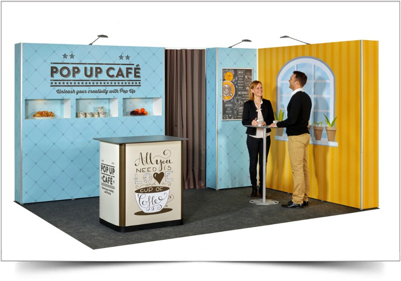 Pop-Up-beursstand