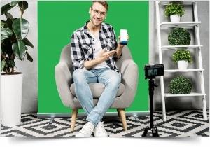Green screen compact oprolbaar