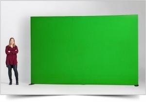 Green screen staand of aan plafond gemoneerd