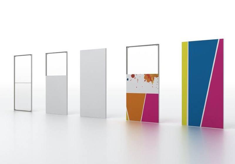 Scheidingswanden transparant of met print afbeelding