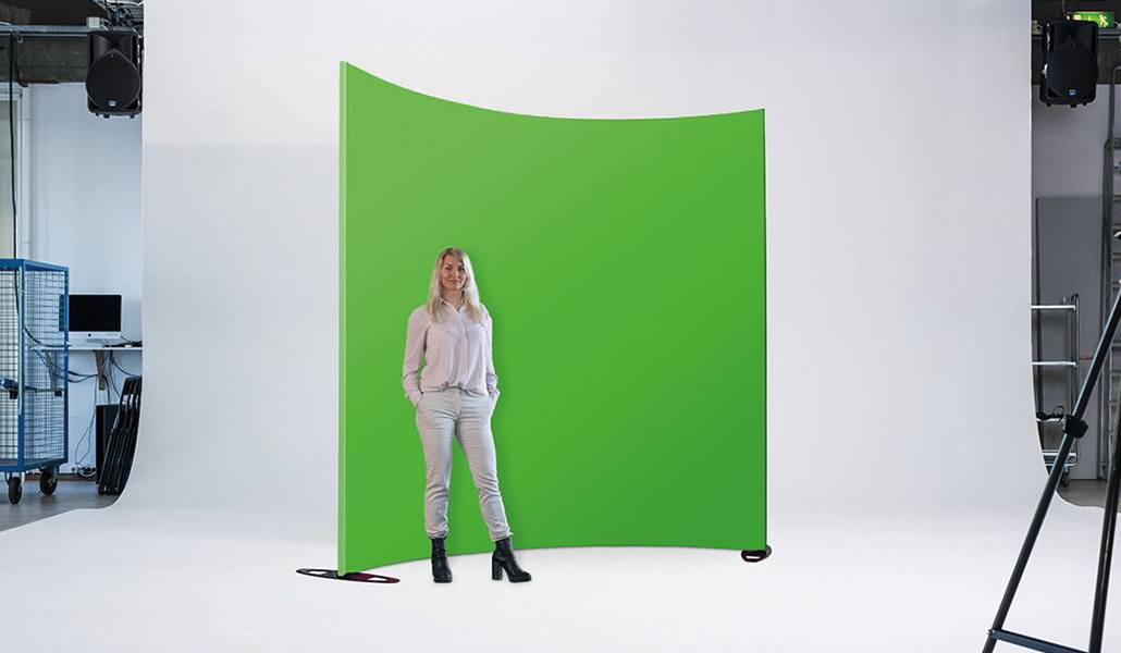 Green screen gebogend curved