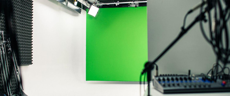 Groen achtergrond doek
