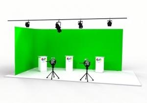 Green screen achtergrond voor kantoor of studio