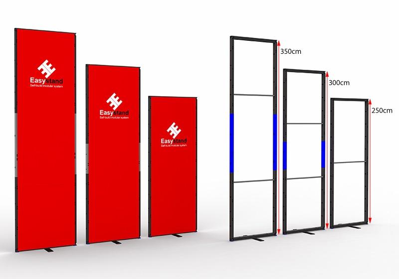 Easystand modulaire standbouw hoogten