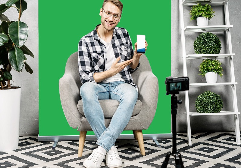 green screen oprolbaar